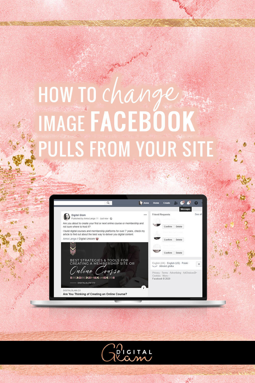 how to change image Facebook pulls from your site